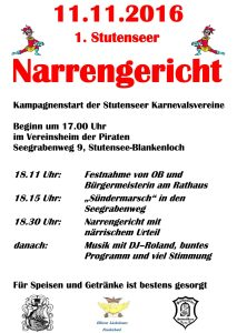 1. Stutenseer Narrengericht